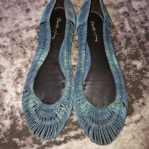 Elizabeth and James Anthropologie woven flats